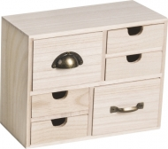 Small Wooden Cabinet : 6 Drawers