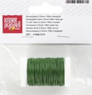 Цветарска Тел Knorr Prandell 0.35 mm, 100 m iron/moss green