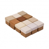 Slanchogled Box cube 040 mm Selection 12 pcs Natural