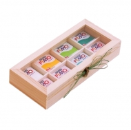 Wooden Box with Glass Lid : 29 x 12.8 x 5 cm