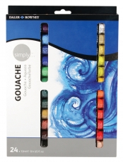Daler Rowney Simply Gouache : Set of 24 Colours