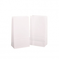White Standing Paper Bag (Party Bag), Pack of  50