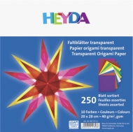 Transparent Origami Paper Heyda 20*20 cm, 250 sheets