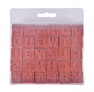 wooden stamps set Alphabet 30 pcs