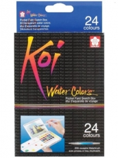 Sakura Koi Watercolour Pocket Field Sketch Box 24 Assorted Colours