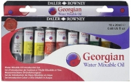 Daler Rowney Georgian Water Mixable Oil Colour Selection Set 10 X 20ml Tubes