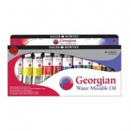 Daler Rowney Georgian Water Mixable Oil Colour Selection Set 10 X 37 ml Tubes