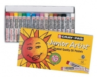 Sakura Cray-Pas Junior Artist 16 Pack Color Oil Pastel Set