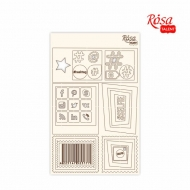 Rosa Chipboard Scrapbook Embellishments 12.6 x 20 cm - Web