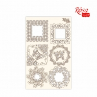 Rosa Chipboard Scrapbook Embellishments 12.6 x 20 cm - Lace Frames