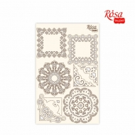 Rosa Chipboard Scrapbook Embellishments 12.6 x 20 cm - Frames