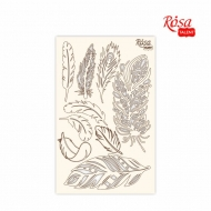 Rosa Chipboard Scrapbook Embellishments 12.6 x 20 cm - Feathers