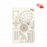 Rosa Chipboard Scrapbook Embellishments 12.6 x 20 cm - Travel