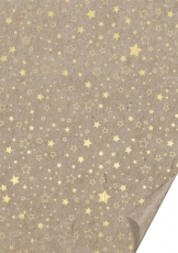 Embossed Hot Foil Finished Kraft Paper А4 Heyda 220 gsm Stars Gold