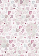 Heyda paper A4 Hearts Big 200 g, 41-red