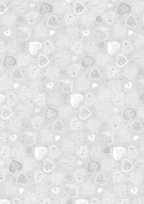 Transparent Paper Heyda A4 Embossed Hot Foil Finish - Hearts Large
