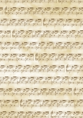 Transparent Paper Heyda A4 Musical Notes Brown