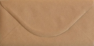 Kraft Paper Envelope DL (110 mm x 220 mm) 115 gsm - Ribbed