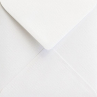 White Square Envelope S4 (155 mm x 155 mm) 100 gsm - Laid White
