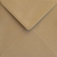 Kraft Paper Square Envelope S4 (155 mm x 155 mm) 155 gsm - Eco