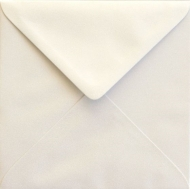 White Pearlescent Square Envelope S4 (155 mm x 155 mm) 100 gsm - Ivory