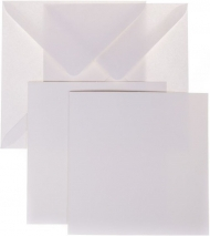 10 pcs White Square Folded Cards with Envelopes - Bio Top