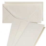 10 pcs DL Folded Cards with Envelopes - Sand