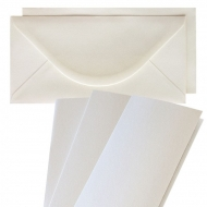 10 pcs DL Pearlescent Folded Cards with Envelopes - Capiz