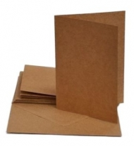 10 pcs A6 Kraft Folded Cards with Envelopes