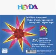Transparent Origami Paper Heyda 10*10 cm, 250 sheets