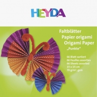 Origami Paper Heyda Dots 15*15 cm, 66 Sheets