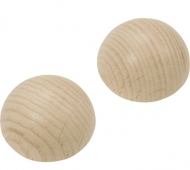 Beech Wood Dome Balls Knorr Prandell 30 mm, 4 pcs