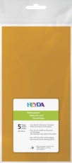 Soft Tissue Paper Heyda 50 x 70 cm, pack of 5 Sheets - Orange
