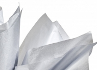 Soft Tissue Paper Heyda 50 x 70 cm, pack of 5 Sheets - Silver