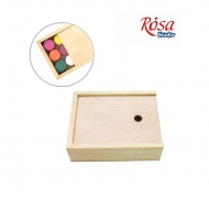 Wooden box with sliding cover 17 x 13.3 x 5.3 cm