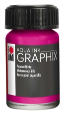 Водоразтворим Туш Marabu Graphix Aqua 15 ml - Магента