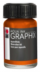 Водоразтворим Туш Marabu Graphix Aqua 15 ml - Оранжев