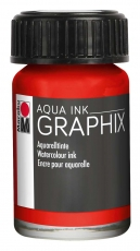 Водоразтворим Туш Marabu Graphix Aqua 15 ml - Цинобър