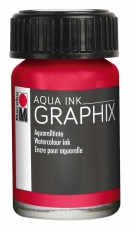 Водоразтворим Туш Marabu Graphix Aqua 15 ml - Кармин