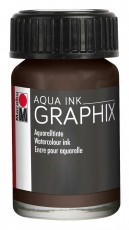 Marabu Graphix Aqua Ink - Dark Brown
