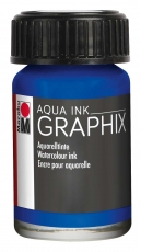 Водоразтворим Туш Marabu Graphix Aqua 15 ml - Ултрамарин Тъмен