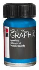 Водоразтворим Туш Marabu Graphix Aqua 15 ml - Циан