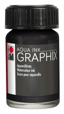 Водоразтворим Туш Marabu Graphix Aqua 15 ml - Черен