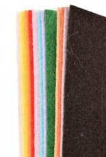Acrylic Craft Felt A4 thickness 1 mm - 12 Assorted Colours