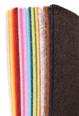 Acrylic Craft Felt A4 thickness 1 mm - 24 Assorted Colours