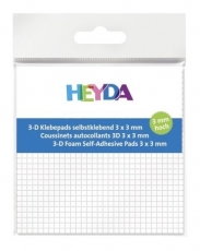 Heyda Adhesive Foam Pads 3 mm thick, Size 3 x 3 mm,  961 pcs