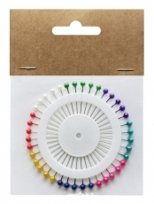 Coloured Pearl Headed Pins : Pack of 40