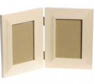 KPC wooden picture frame hinged 27x17cm