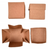 Set of 12 Kraft Paper Boxes 40x40x40 mm