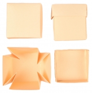 Set of 12 White Pearlescent Boxes 40x40x40 mm Chamois